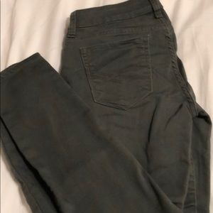 Army green jeggings/jeans